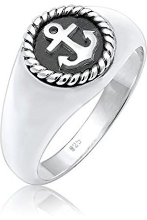 Paulo Fanello Men 925 Sterling Silver Anchor Sea Basic Maritime Ring