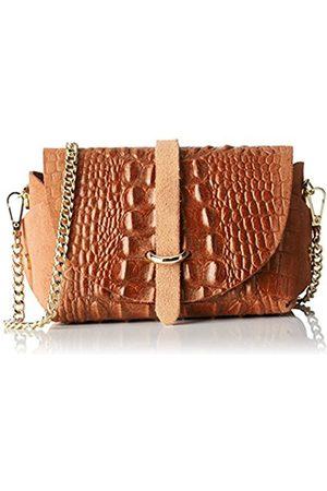 Chicca borse 10031, Women's Shoulder Bag, Marrone (Cuoio)