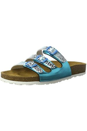 LICO Bioline Trendy, Women's Cold Lined Low House Shoes, Turquoise (Tuerkis/ )