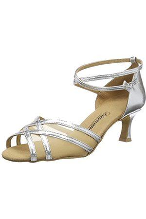 Diamant Women's Damen Latein Tanzschuhe 035-077-013 Ballroom Dance Shoes silver Size: 8