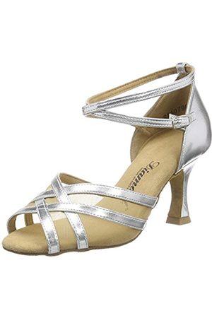 Diamant Women's Damen Latein Tanzschuhe 035-087-013 Ballroom Dance Shoes silver Size: 9