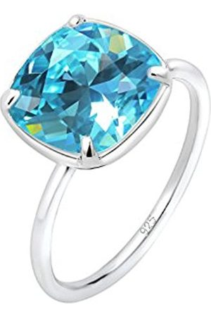 Elli Women's 925 Sterling Silver Geo Classic Swarovski Crystals Ring