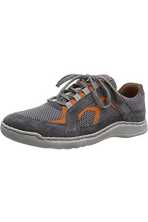 Josef Seibel Mens Milo 13 Low-Top Trainer Gray Grau (949 057 asphalt/kombi) Size: 8