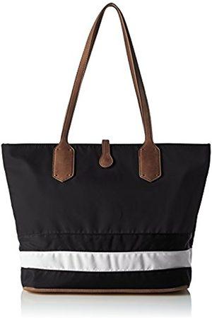 Sansibar Womens SA-1259-SB_BLACK/ /COGNAC Cross-Body Bag