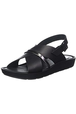 TBS Women's Nymphea Open Toe Sandals, (Noir + Bronze D34)
