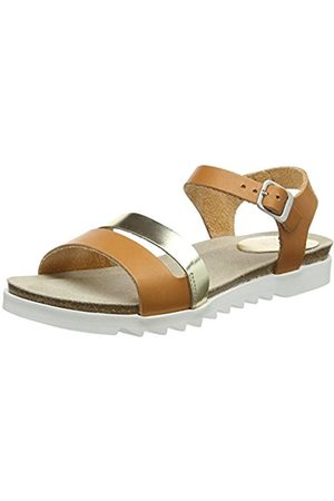 TBS Women's Theresa Open Toe Sandals, (Sienne + Champagne G46)