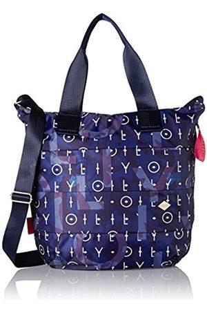 Oilily Ruffles Shopper Lvz, Women's Satchel, Blau (Dark )