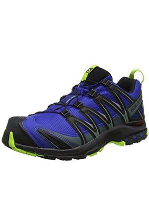 Salomon Hombre XA Pro 3D GTX, Trail Running Footwear, Waterproof Wil/Black/Lime Green