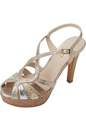 Lodi Women's Tim Platform Sandals, (Alice Plata-Platino Nude)