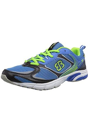 Bruetting Unisex Adults' Runaway Running Shoes, Blau/Schwarz/Lemon