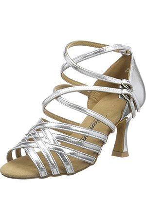 Diamant Women's Damen Latein Tanzschuhe 108-087-013 Ballroom Dance Shoes Silver Size: 9 UK