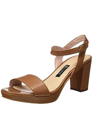 CUPLÉ Women's Sandalia Pala Palm Cuero Sandals with an Ankle Strap Size: 6.5