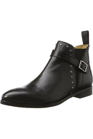 Melvin & Hamilton Women's Jessy 28 Chelsea Boots, Schwarz (Salerno + Rivets, Ela. , Hrs )