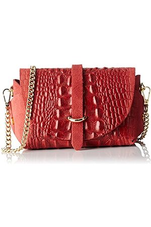 Chicca borse 10031, Women's Shoulder Bag, Rosso