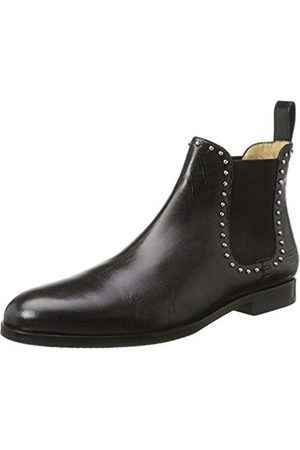 Melvin & Hamilton Women's Susan 37 Chelsea Boots, Schwarz (Salerno + Rivets, Ela. , Hrs)