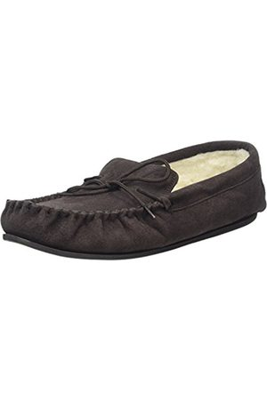 Generic SNUGRUGS Wool Lined Suede Moccasin With Rubber Sole