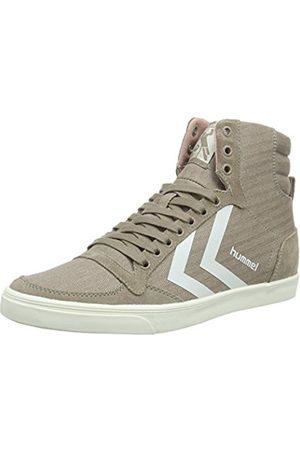 Hummel Women's Slimmer Stadil Herringbone Hig Hi-Top Sneakers