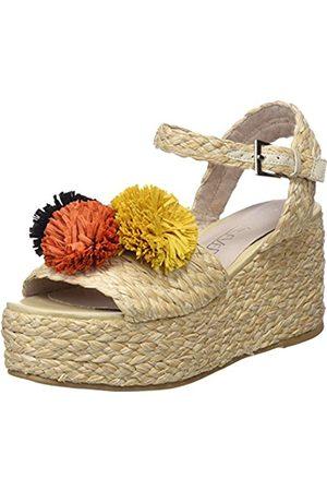 Womens Taike Platform Sandals, Green Sixtyseven