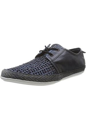 Base London Men's Tent Lace-up Flats Bleu (Navy) 11
