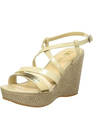 Lumberjack Women's Antibe Wedge Sandals with Ankle Strap Size: 6.5