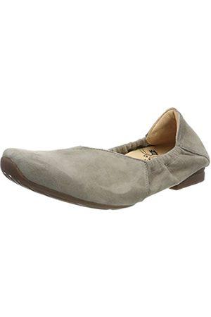 Womens Gaudi_282175 Closed Toe Ballet Flats, Grey Think