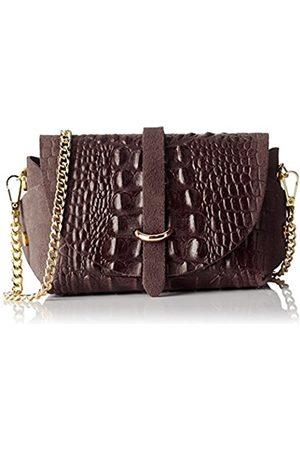 Chicca borse 10031, Women's Shoulder Bag, Marrone (Testa Di Moro)