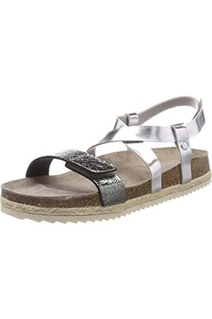 Superfit Girls' Fussbettpantoffel Heels Sandals Silver Size: 2.5 UK