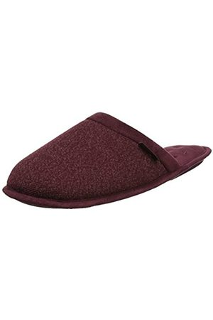 Isotoner Men's Wool Fabric Mule Open Back Slippers