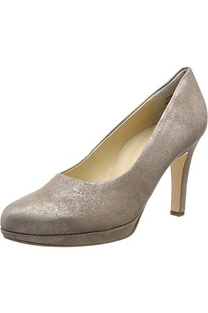 Paul Green Women's Sz Met Champagne Closed Toe Heels