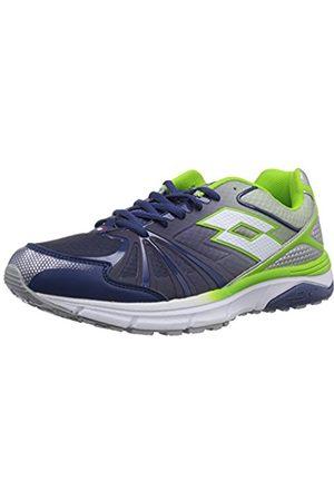 Lotto Sport Mens MOONRUN Running Shoe multi-coloured Mehrfarbig (BLU MED/MET SIL) Size: 9