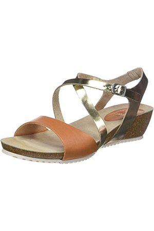 TBS Women's Stefany Open Toe Sandals, Marron (Sienne + Champagne)