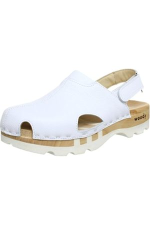 Woody London Clogs And Mules Mens White Weiß (Sport Nappa weiß) Size: 9 (43 EU)