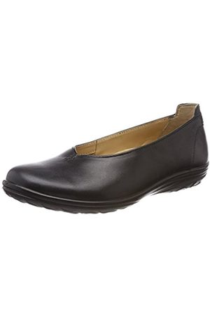 Womens Allegra Closed Toe Ballet Flats, Black Jomos