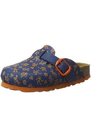 LICO Boys' Bioline Clog Kids Cold Lined Slippers Blue Size: 42 cm