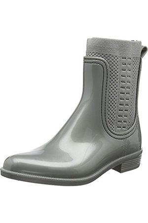 b9434144ab8953 Tommy Hilfiger Women s Tommy Knit Shiny Rain Boot Wellington ...