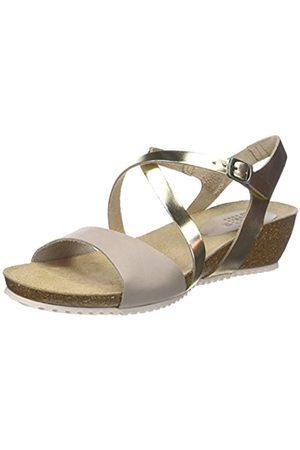 TBS Women's Stefany Open Toe Sandals, Ivoire (Grege + Champagne)