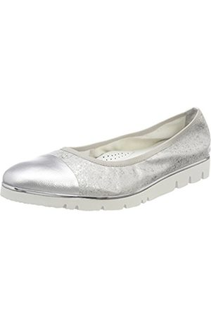 Womens Mathea 01 Closed Toe Ballet Flats, Silver Gerry Weber