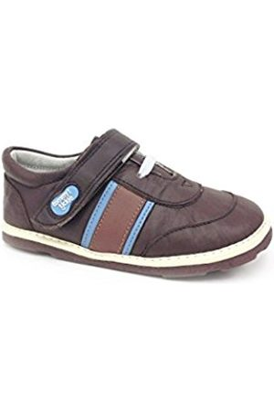 Tommy Tickle Baby Boys' Trax Sports Shoe Low-Top Sneakers, (Chocolate/Shark/Tan/ )