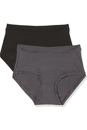 Dim Women's Body Mouv Shorty X2 Hipster, (Noir/Gris Gris Granite 6o5)
