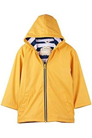 Hatley Boy's Zip up Splash Jacket Raincoat, ( /Navy Stripe)