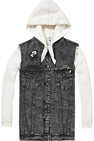 Scotch&Soda Maison Women's AMS Blauw Felix The Cat Oversized Trucker Vest with in Jacket