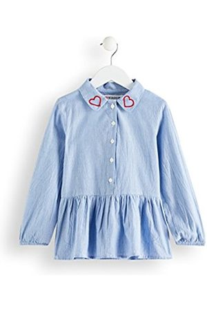RED WAGON Girl's Embroidered Collar Tunic Shirt
