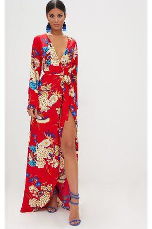 PRETTYLITTLETHING Floral Print Kimono Maxi Dress