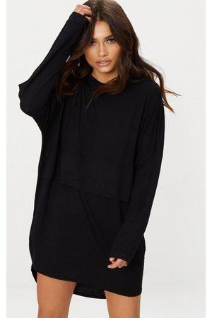PRETTYLITTLETHING Long Sleeve Layer Jersey T Shirt Dress