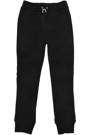 Balmain Boys Trousers - BIKER COTTON SWEATPANTS