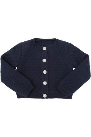 Balmain Girls Sweatshirts - QUILTED COTTON SWEATSHIRT JACKET