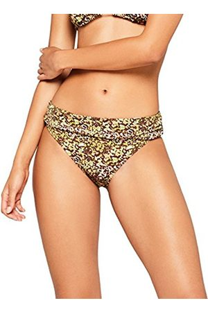 IRIS & LILLY Women's High Gathered Waist Bikini Bottoms