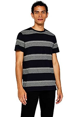 FIND Men's T-Shirt with Large Contrast Stripes, Short Sleeves and Crew Neck