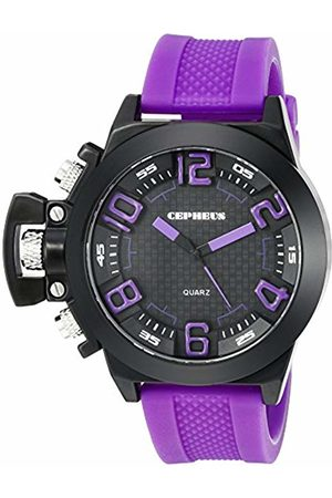 CEPHEUS Men's Quartz Watch with Dial Analogue Display and Silicone Strap CP901-620