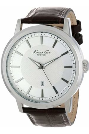 """Kenneth Cole New York Men's KC1952""""Modern Core"""" Stainless Steel Watch with Brown Leather Strap"""